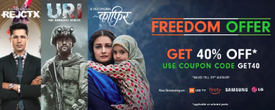Zee5 Freedom Offer - Flat 40% Off on Subscription