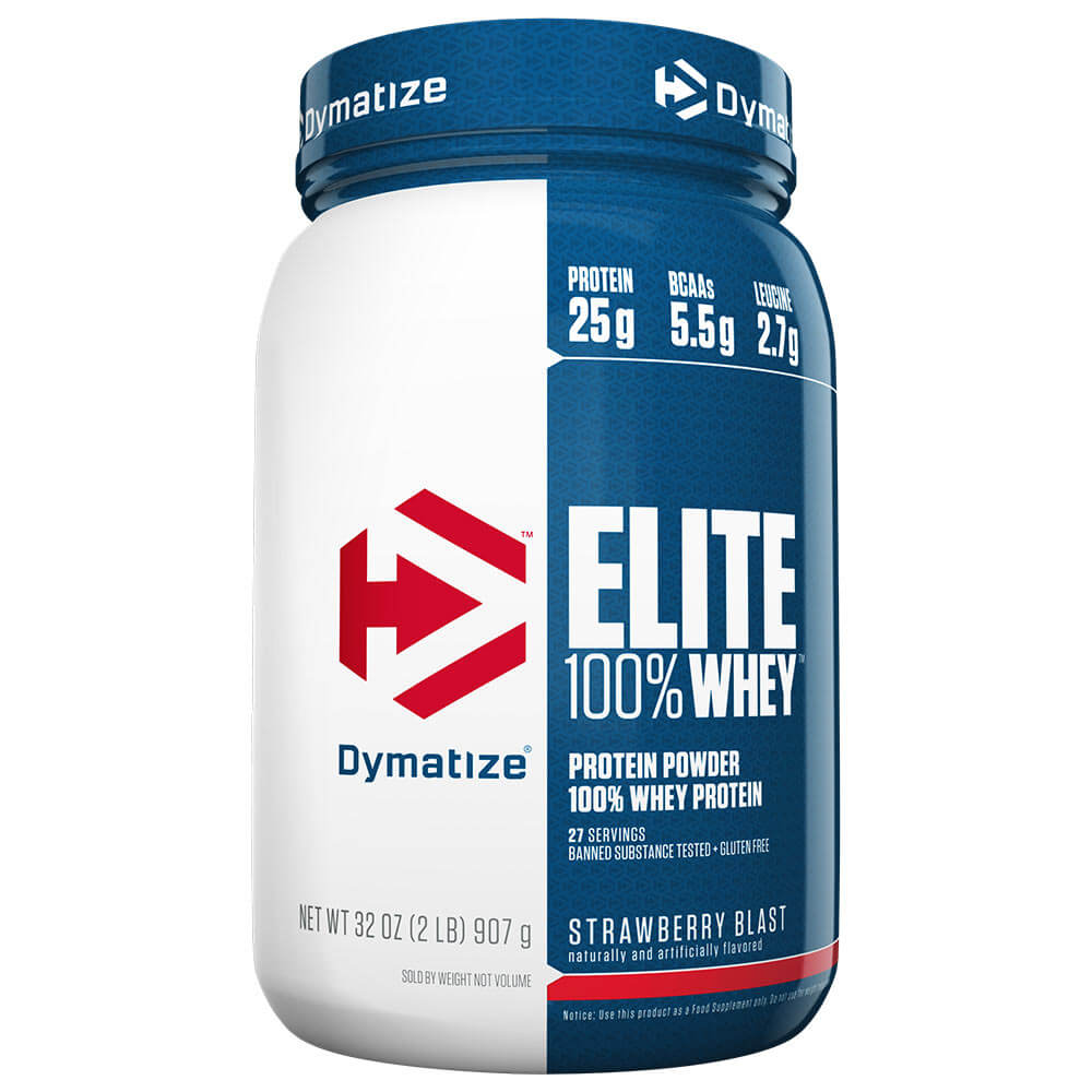Dymatize Elite 100% Whey Protein, 2 lb Strawberry Blast
