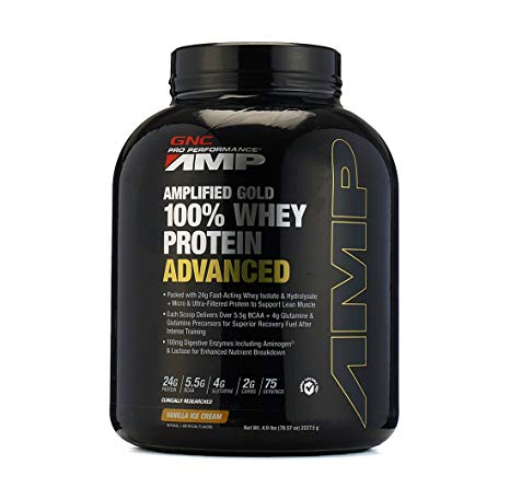 GNC Amp Gold 100% Whey Protein Advanced, 2.05 lb Cookies & Cream