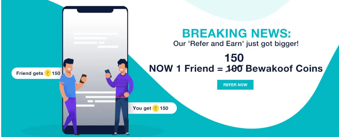 Bewakoof Referal Code: Earn Rs  150 on Sign up with Code
