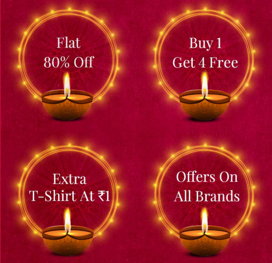 myntra Diwali Top offers