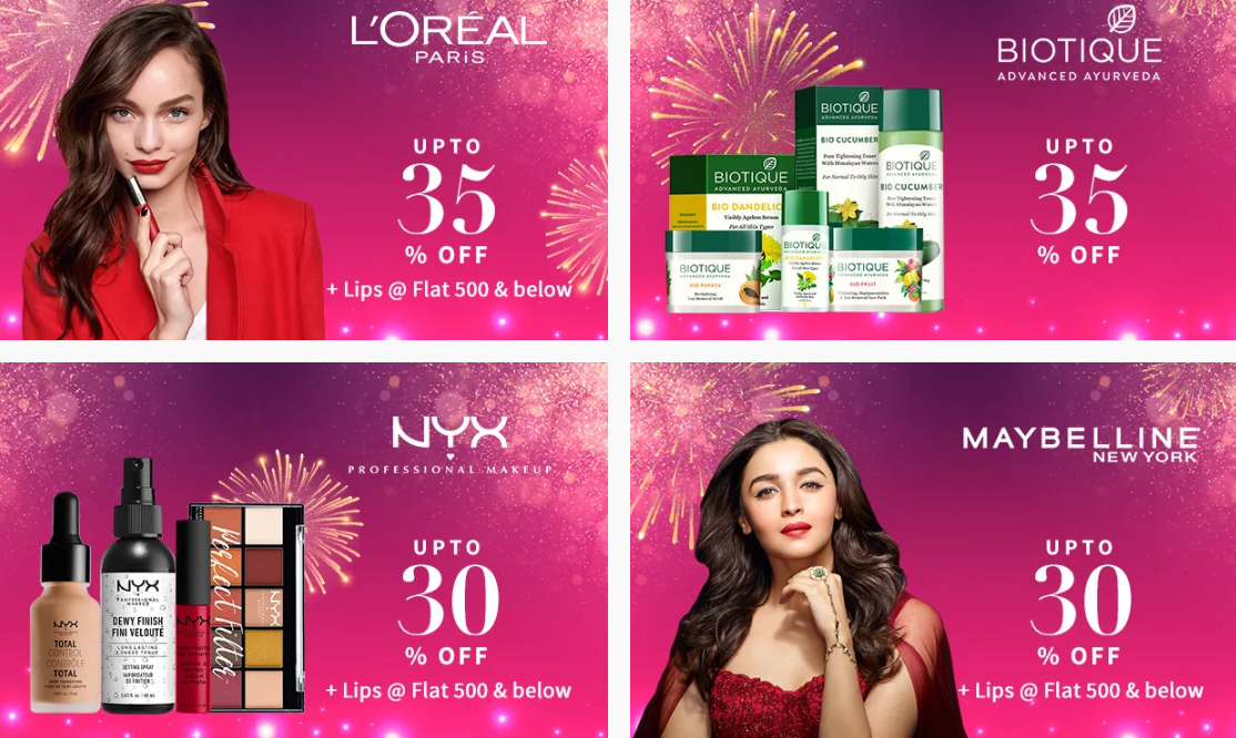nykaa-diwali-sale-offer-on-popular-brands