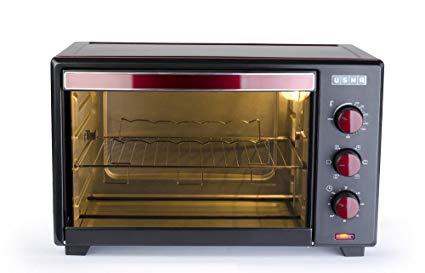 Usha 19L (OTGW 3619R) Oven Toaster Grill (Wine & Matte Black