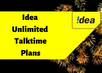 Idea Unlimited Talktime Plans - Mobile Recharge offers For Prepaid Users
