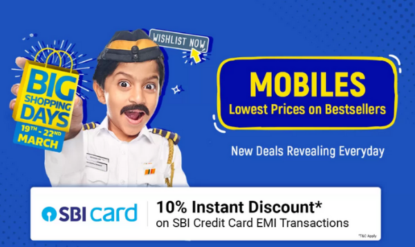 Top 10 Mobile Offers Of Flipkart Big Shopping Days Sale - Extra 10% Off On SBI Credit Card