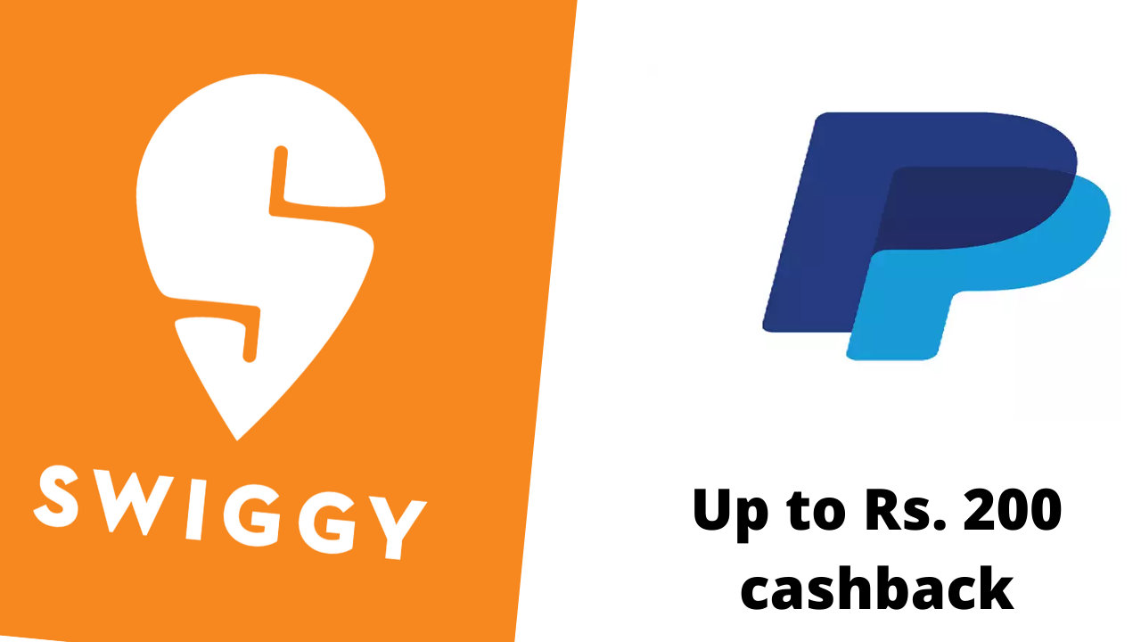 PayPal new and existing users get up to Rs. 200 cashback on Swiggy. Avail Swiggy PayPal offer on two orders.