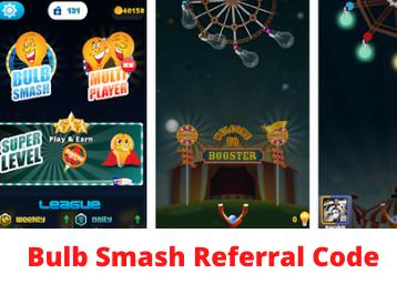 bulb smash referral code get Rs. 70 on sign up