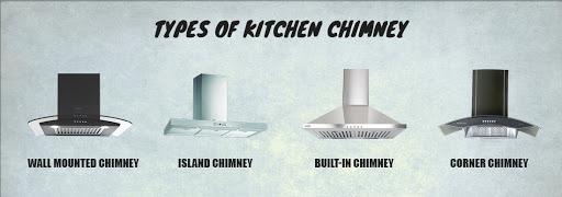 types of kitchen chimneys