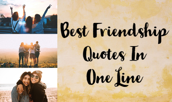 50 Best Friendship Quotes In One Line For Your Buddies!!