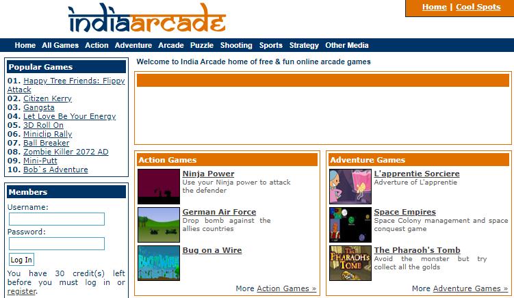 india arcade