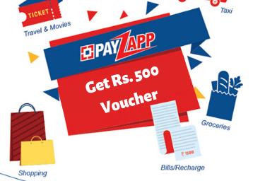 HDFC PayZapp Offer: Get Rs. 500 Voucher