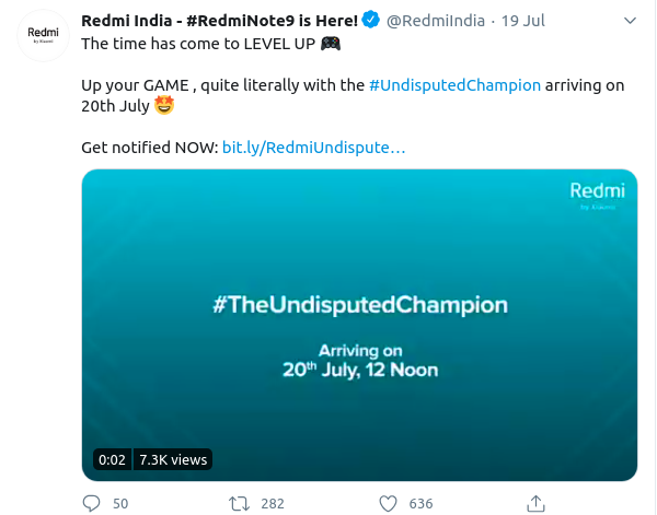 Redmi Note 9 Launch Date in India - Sale On 24th July 2020