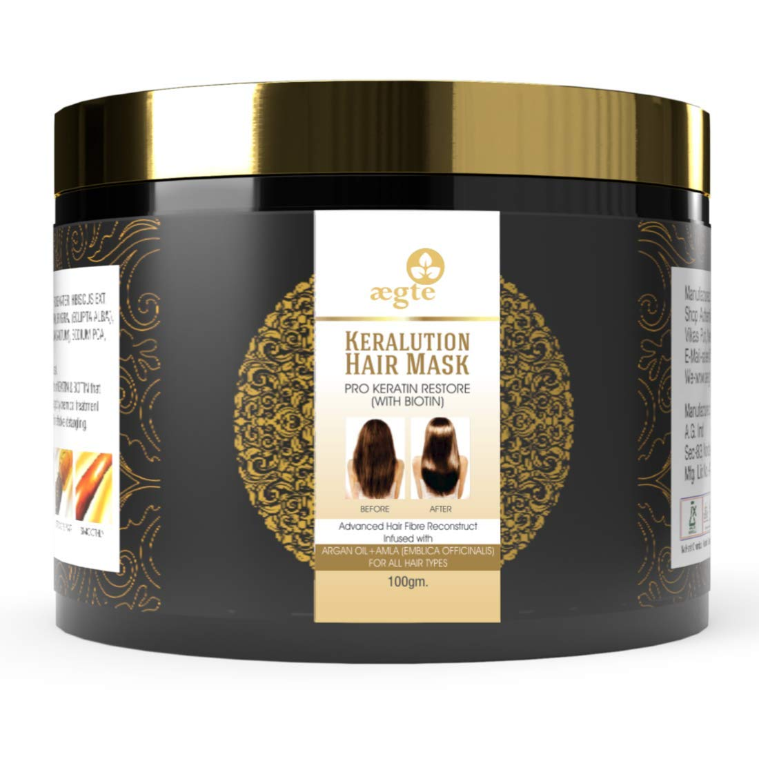 Aegte Keralution Hair Mask Infused with KERATIN