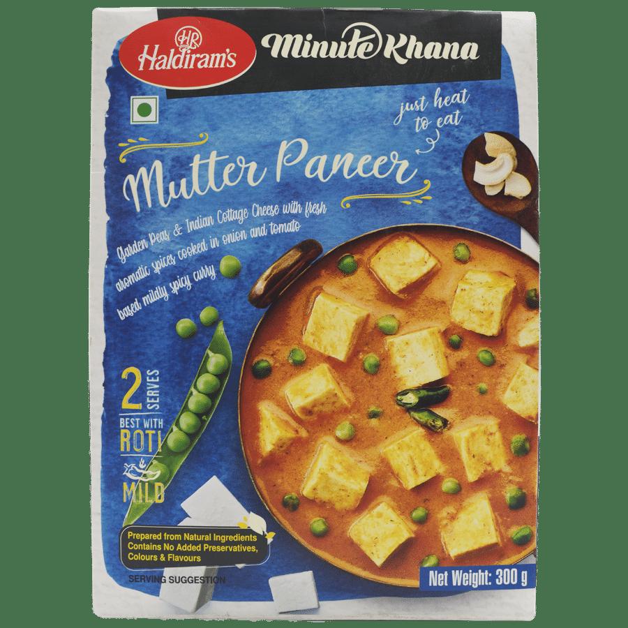 Haldirams Ready to Eat - Mutter Paneer (Del), 300 g Carton