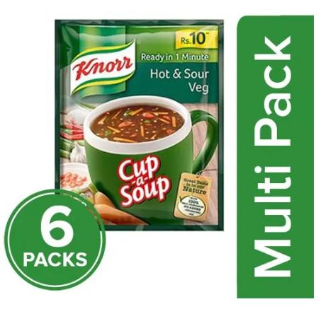Knorr Cup-A-Soup - Hot & Sour Veg, 6x11 g Multipack