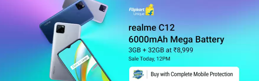 Realme C12 Price In India: Sale Starts Today At 12 On Flipkart