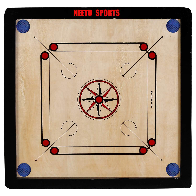 Neetu Sports Superior Matte Finish Club Carrom Board for Professionals Clubs