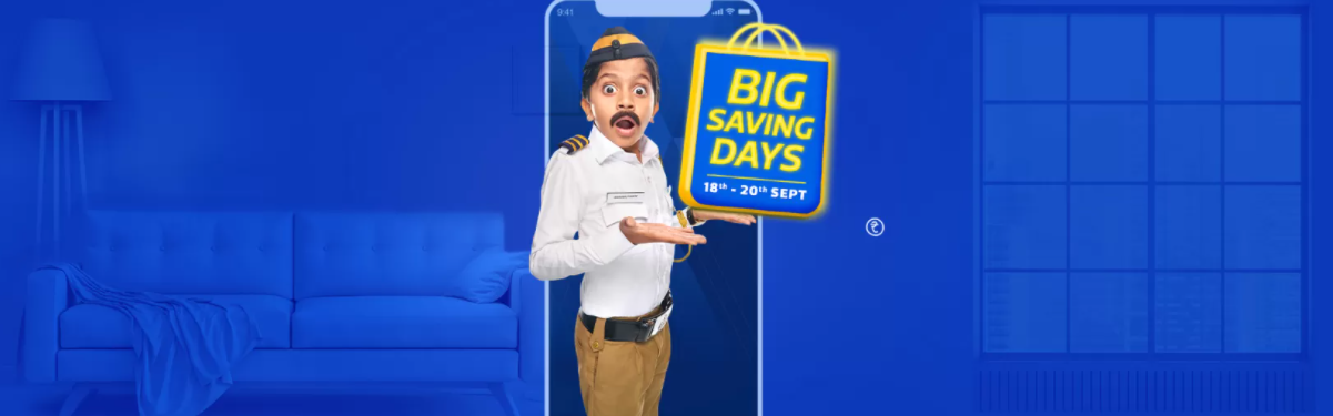 Flipkart Big Saving Days Sale 2020: Upto 80% OFF Offers + Bank Discount [18th-20th September]
