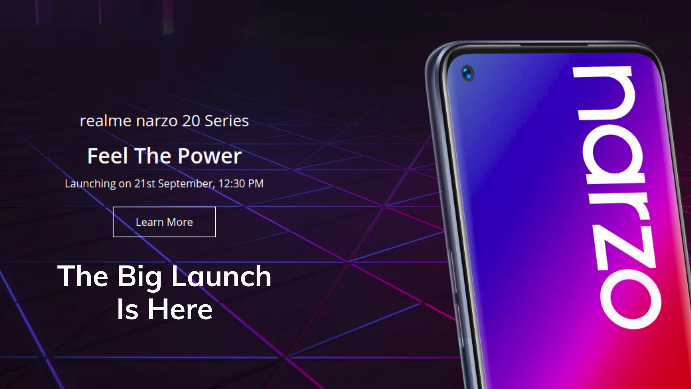 Realme Narzo 20 Series Launch in India - Arriving On September 21