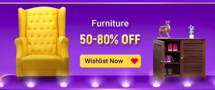 Flipkart Big Billion Days Home & Furniture Sale [50% - 80% Off]