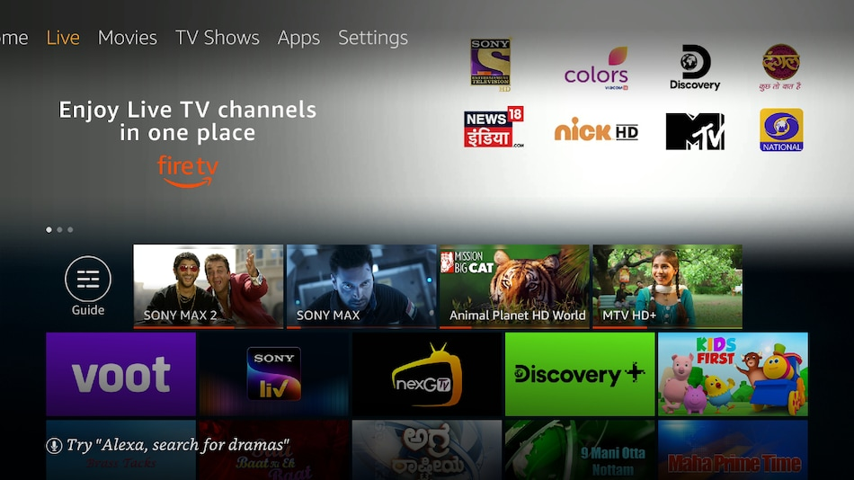 Amazon Fire TV Gets Support for Live TV streaming in India.