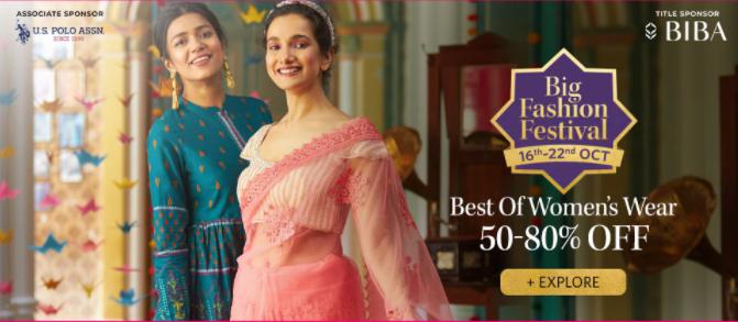 Myntra Big Fashion Festival Sale 2020: Get 50% To 80% Off [16th-22nd Oct]