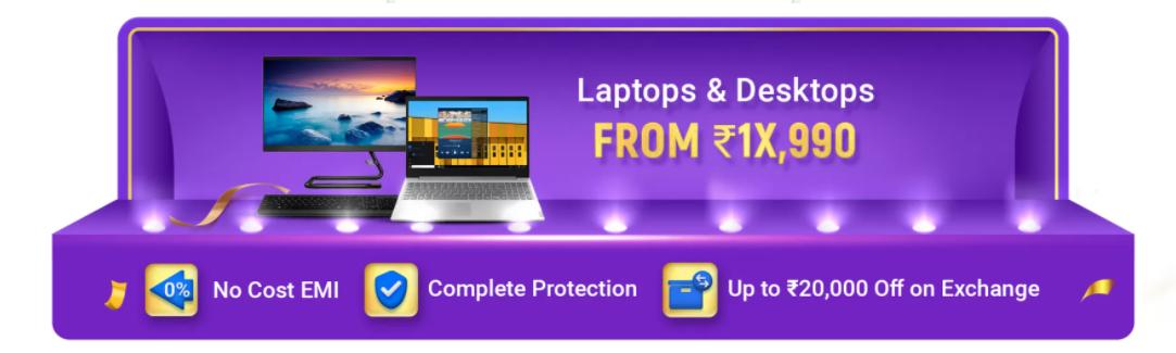 Big Billion Days Offers on Laptops & Desktops