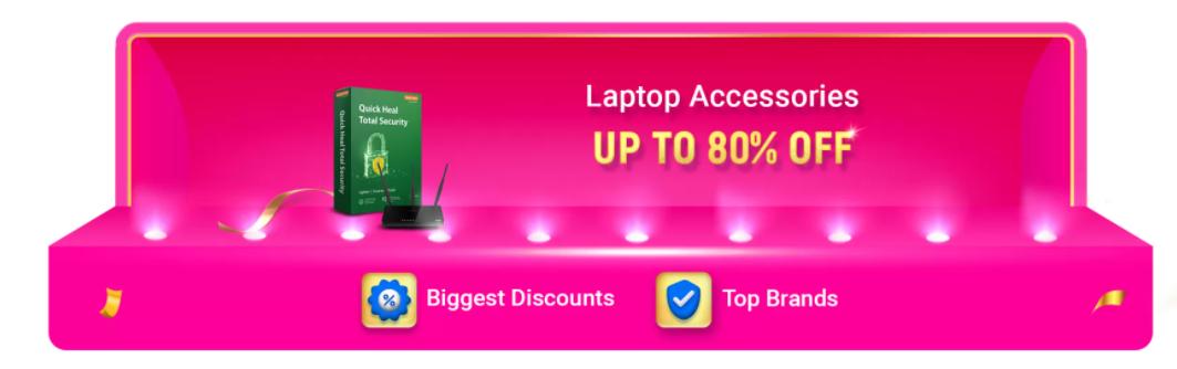 Laptop Accessories offers of Flipkart Sale