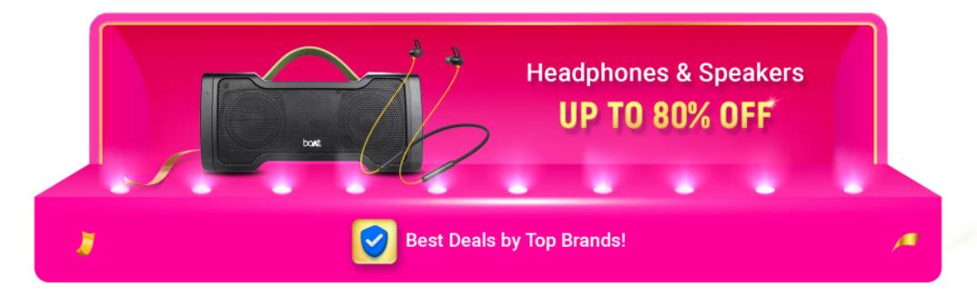 Flipkart Big Billion Sale on Headphones & Speakers
