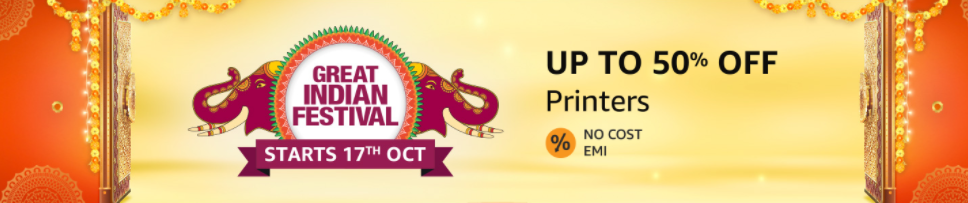 Amazon Great Indian Festival Sale on Printers