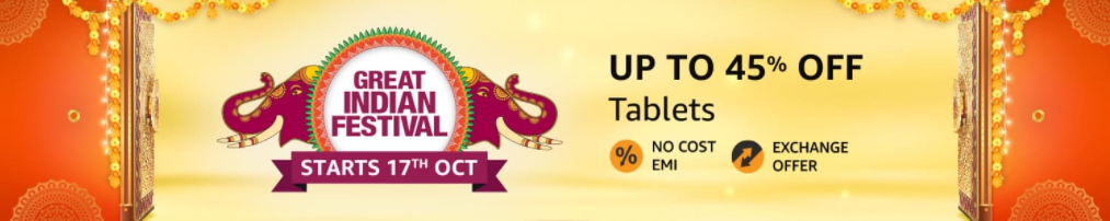 Great Indian Festival Sale offers on Tablets