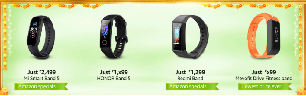 Amazon Sale offers on Smartwatches & Fitness Trackers