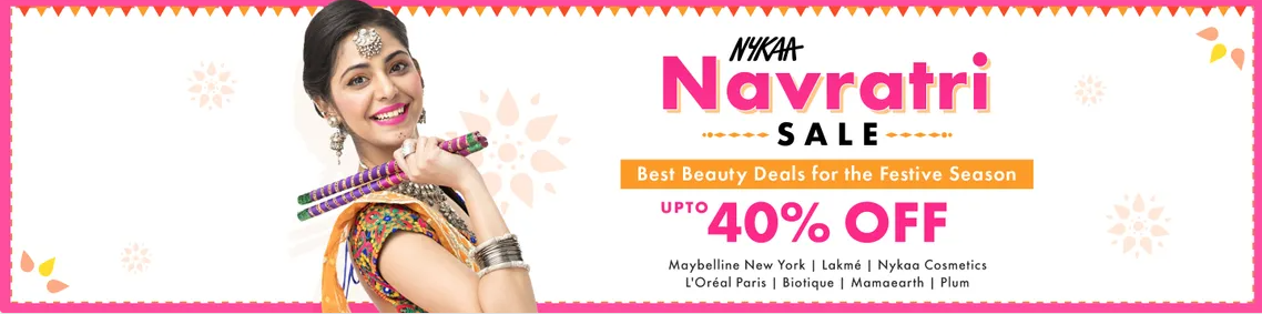 Nykaa Dussehra Sale: Upto 40% OFF on Top Makeup Brands M.A.C, Loreal, Lotus, Garnier