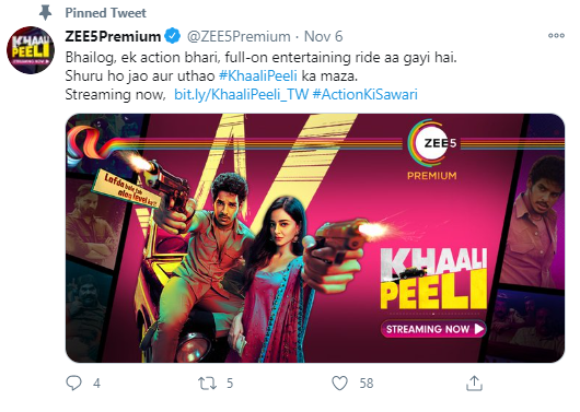 Watch Khaali Peeli Full Movie Online