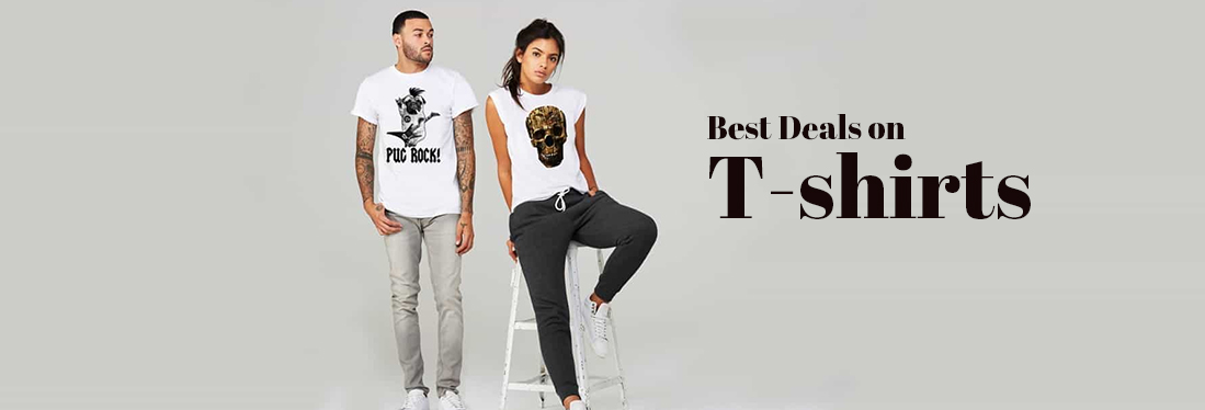 fe314580f44abd T-shirt Offers & Deals - Buy Mens and Womens T shirts, @50% OFF